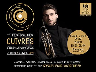 11e Festival des Cuivres de L'Isle-sur-la-Sorgue du 31 mars au 7 avril 2019