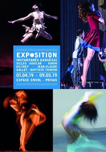 """""""Instantanés dansés #2"""", exposition collective de photographes de danse dans le cadre de Danse au fil d'avril, Espace envol, Privas"""