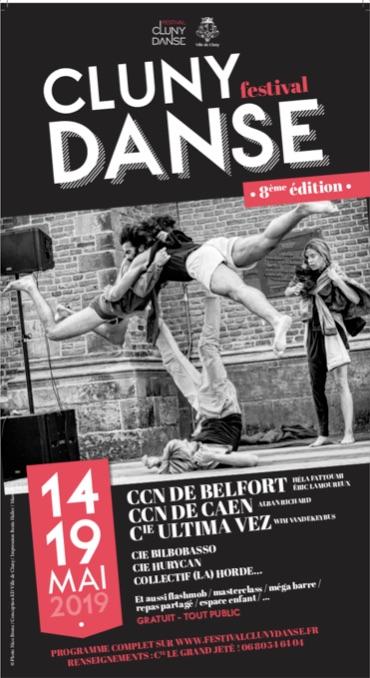 Festival Cluny Danse 8e édition du 14 au 19 mai 2019
