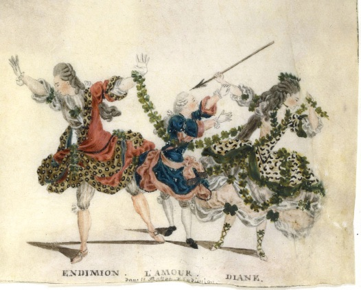 J.-L. Fesch, Endymion, 1773-1778, gouache sur vélin, BnF, Musique, Bibliothèque-musée de l'Opéra