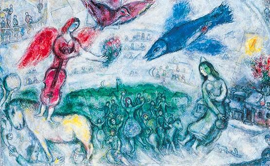 Marc Chagall, Les gens du voyage, 1968 © Adagp, Paris 2019