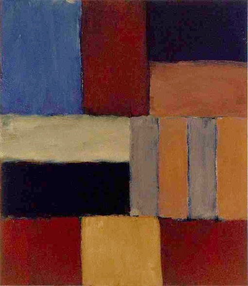 Sean Scully, « Wall of Light Blue Black Sea », 2009 Oil on aluminum, 215.9 x 190.5 cm © ADAGP, Paris 2011