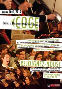 Le COGE Choeurs Orchestres Grandes Ecoles recrute choristes et musiciens