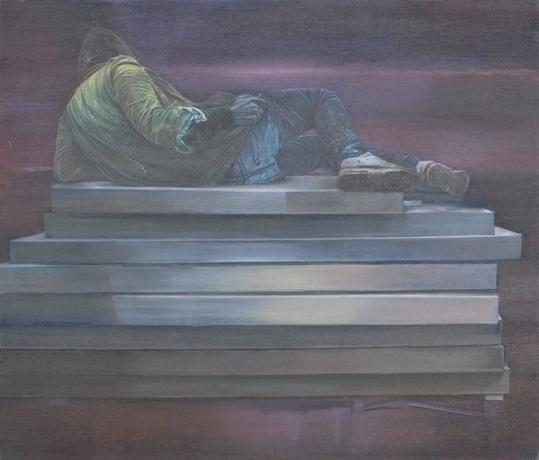 Amnésie, 2011 Huile sur toile 195 x 215 cm