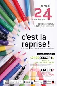 Festival d'orchestres d'harmonie de Lyon le samedi 24 septembre 2011 à la Bourse du Travail