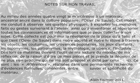 Alain Fournier, « Afférences », du 13 au 23 octobre 2011 à l'ancienne Imprimerie Céas, Valence