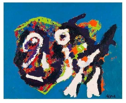 Appel Karel (1921-2006) Oh le chat 1976 acrylique sur toile / 81 x 100 cm achat en 1984 ©karel Appel fondation, Adagp Paris 2011 ©Adagp, paris 2011 © Blaise adilon