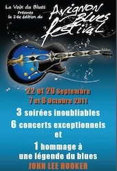 Hommage à John Lee Hooker à Avignon Blues Festival 2011, 7 et 8 octobre 2011 à Avignon