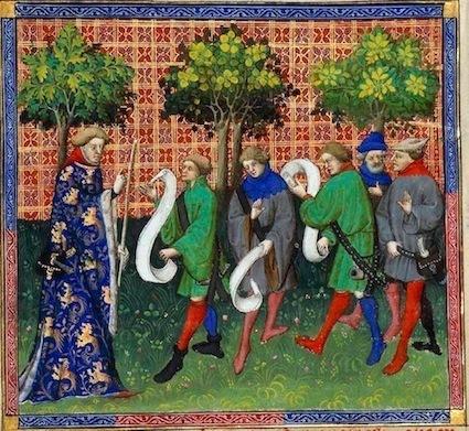 Gaston Fébus, Livre de chasse - folio 51 V° - détail © BnF