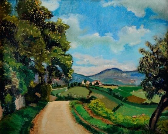 André Utter, Paysage en Beaujolais, 1927. Huile sur toile, 33 x 41,5 cm. Musée Paul-Dini, musée municipal de Villefranche-sur-Saône