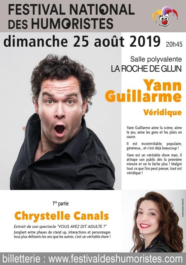 31e Festival des Humoristes : Yann Guillarme et Chrystelle Canals le 25 août 2019 à la Roche de Glun (Drôme)