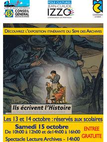 """""""Ils écrivent l'Histoire. La Grande Guerre dans les Bouches-du-Rhône."""" Exposition itinérante du Semi des Archives et lecture d'archives dans les Bouches-du-Rhône"""