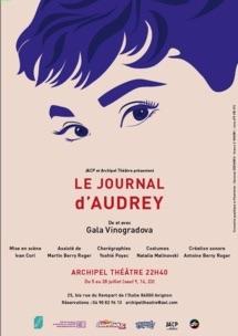 Le Journal d'Audrey, du 5 au 28 Juillet 19 à Avignon Off