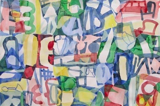 Jan Voss. « Sans titre » - 2009, aquarelle sur papier, 80 x 120 cm. Collection du Conseil général du Var © ADAGP, Paris 2011