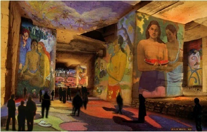 Simulation du spectacle « Gauguin, Van Gogh, les peintres de la lumière » © G. Iannuzi