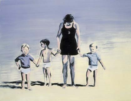 Adam Adach - Mothers Sister Son, 2005 - Huile sur toile 50 x 65 cm - Collection Marie-Françoise et Gilles Fuchs © Cedrick Eymenier - Courtesy Galerie Jean Brolly