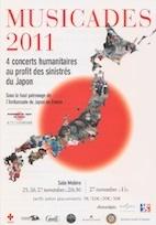 Quatre concerts caritatifs au profit des sinistrés du Japon les 25, 26 et 27 novembre 2011 à Lyon