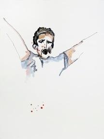 Rebecca Bournigault - Tunisie, 2011 - Aquarelle sur papier  142 x 106 cm