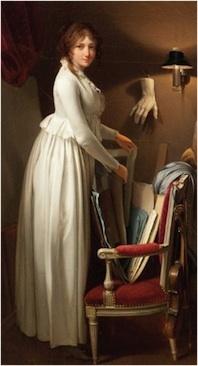 Boilly, La femme de l'artiste dans son atelier, vers 1795