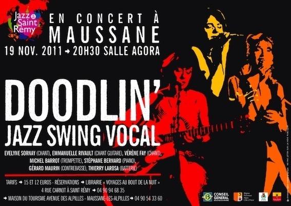 Jazz à Saint-Rémy de Provence, 19 novembre : Doodlin', jazz swing vocal