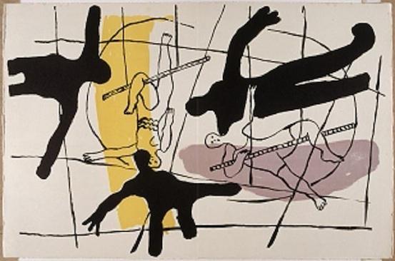 Fernand Léger (1881-1955). Planche lithographique pages 52 et 53 de l'Album CIRQUE, 1950© Adagp Paris 2011 - RMN / © Gérard Blot