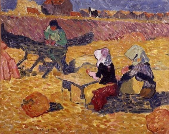 Louis Valtat, Les écaillères d'huitres à Arcachon, huile sur toile 65 x 81 cm, collection Fondation Regards de Provence