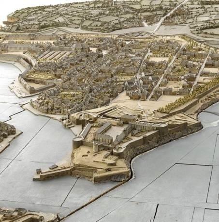 Détail du plan relief de Brest (130m2) © Photo RMN – Stéphane Maréchalle