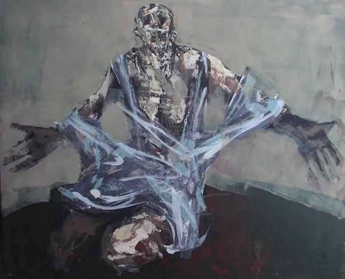 « La Foi », technique mixte, 81 x 100 cm © François Rieux