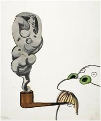 Tomi Ungerer, sans titre, dessin inédit, vers 1960. ©  Collection Musée Tomi Ungerer