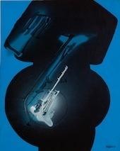 Icône pour Giuseppe Verdi, 1991. Acrylique sur papier maroufl é sur toile, 81 x 65 cm © Photographie de Michel Bourguet © ADAGP, Paris 2011.