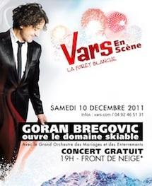 Goran Brégovic à Vars en scène le 10 décembre 2011