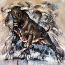 « TANGO LIBRE » , 80 x 80 cm (2019) – Jeanne Saint Chéron