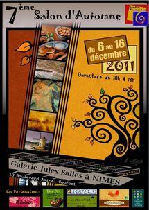 7ème salon des Arts Pigmentés, Galerie Jules Salles, Nîmes, du 6 au 16 décembre 2011