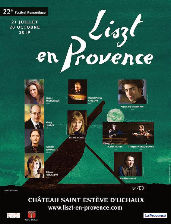 Festival Liszt en Provence, Musique et Nuits d'été au château St-Estève, Uchaux (84) du 21 juillet au 22 septembre
