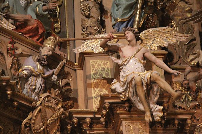Église Saint-Pierre de Prades, le plus grand retable baroque de France (détail) © P.Aimar