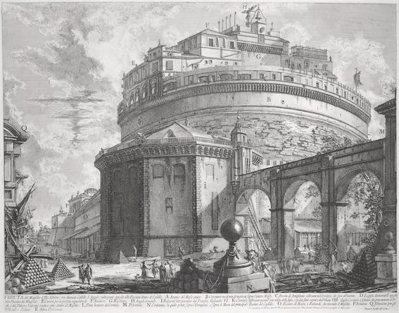 Mausolée d'Hadrien, actuel Château Saint-Ange à Rome © DR