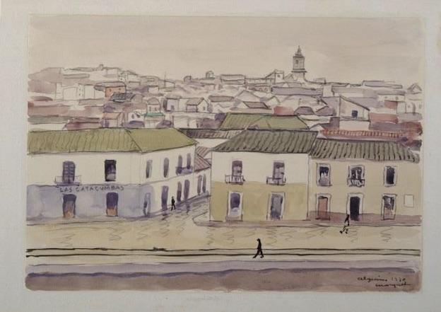 Albert Marquet (1875-1947) Algésiras, 1930 Aquarelle collée sur carton, 32 x 38 cm Centre Pompidou, Paris Musée national d'art moderne