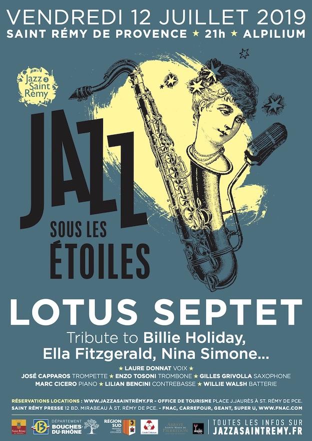 St-Rémy de Provence, Jazz sous les étoiles, du 12 juillet au 22 septembre 2019
