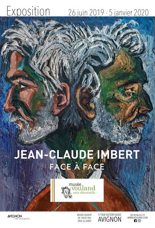 Exposition Jean-Claude Imbert, face à face. Du 26 juin 2019 au 5 janvier 2020 au musée Vouland, Avignon