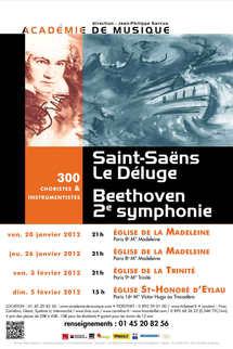 Le Déluge de Saint-Saëns et la 2e symphonie de Beethoven
