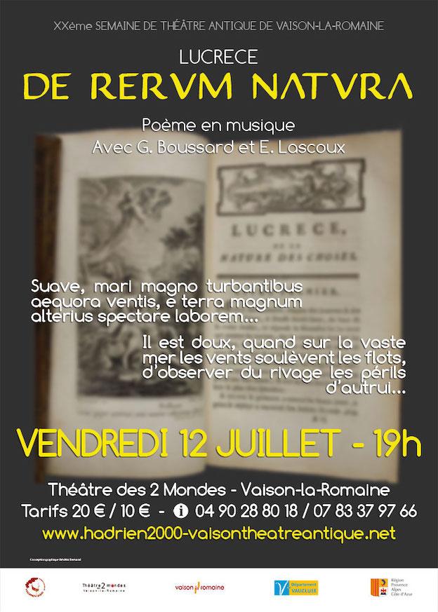 XXe Semaine de Théâtre Antique de Vaison la Romaine, spectacles des 12 et 13 juillet 2019
