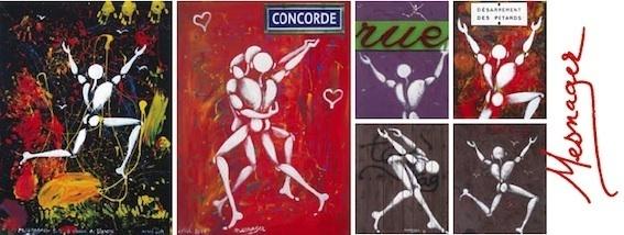 Porte ouverte à Jérôme Mesnager (peintures - objets), Corps blancs, morceaux choisis, du 2 février au 27 mars, galerie Caplain-Matignon, Paris