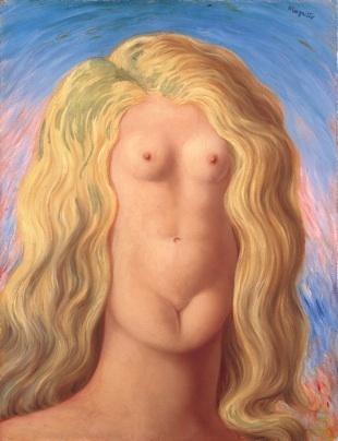 René Magritte, Le viol, 1945, Huile sur toile, 65,3 x 50,4 cm, Legs de Mme Georgette Magritte en 1987, Copyright agence photo de la RMN, ADAGP
