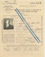 Arch. départ. AHP, 5 R 32, Drioli,  questionnaire destiné à l'obtention de la carte d'identité d'étranger, 3 juin 1917