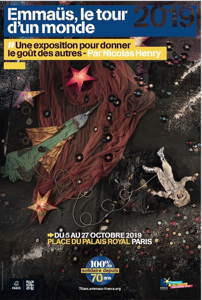 Emmaüs, le tour d'un monde, exposition du 5 au 27 octobre '19 place du Palais Royal, Paris