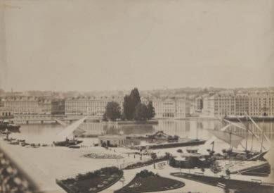 Sébastien Straub Vue du port du commerce et du Jardin anglais Genève, vers 1854 Calotype, 202 x 285 mm Inv. FAO 49129 © Fondation Auer Ory