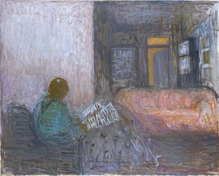 Truphémus. Intérieur - Aimée lisant, 2009. Huile sur toile, 130 x 162 cm, collection particulière