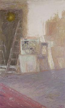 Truphémus. Intérieur d'atelier, 2007, huile sur toile, 162 x 97cm, Galerie Claude Bernard