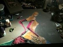 Valérie Normand l'art du voyage : entre femmes célestes et berlines d'un autre siècle, chez Claire Valette, Valence (Drôme), du 4 février au 16 mars 2012