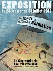 Les métiers du cinéma d'animation, une exposition interactive à la Cartoucherie, Bourg-lès-Valence (Drôme)